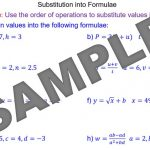 Substitution into Formulae