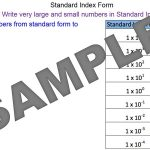 Writing Numbers in Standard Index