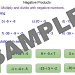 Multiplying and Dividing with Negatives