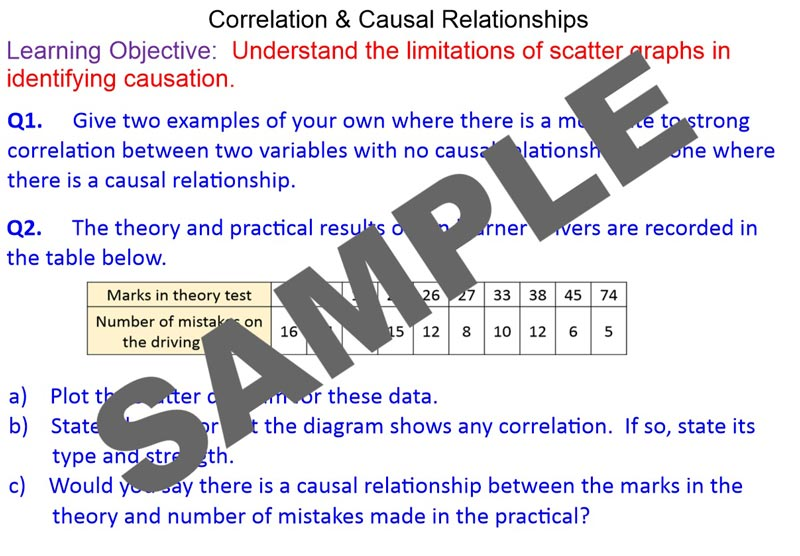 correlation and causal relationship
