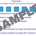 Investigating Perimeters and Areas with Polyominoes