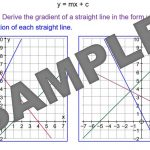 Equation of Straight Line Graphs