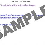 4Factors of an Integer