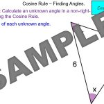 Cosine Rule - Finding Angles
