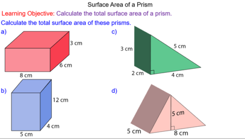 Total Surface Area of Prisms