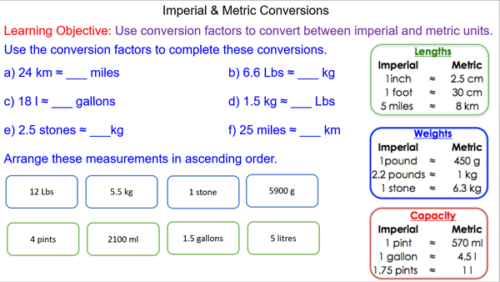 Converting Between Imperial and Metric Units