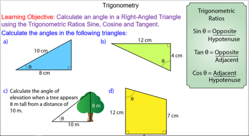 Trigonometry - Angles in Right-Angled Triangles