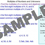 Multiples of Numbers and Expressions