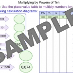 Multipling a number by a power of ten