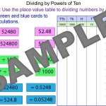 Dividing a number by a power of ten