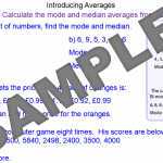 Averages using the Median and Mode