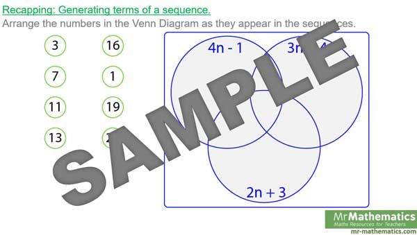 Finding the nth term of a sequence mr for Table th nth