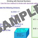 Division with Decimal Numbers
