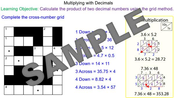 math worksheet : multiplying decimals using the grid method  mr mathematics  : Multiplying Decimals Grid Method Worksheet