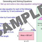Setting up and Solving Equations