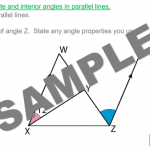 Corresponding Angles in Parallel Lines
