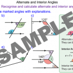 Alternate and Interior Angles in Parallel Lines