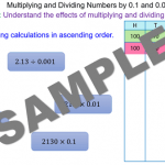 Multiplying and Dividing Numbers by 0.1 and 0.01