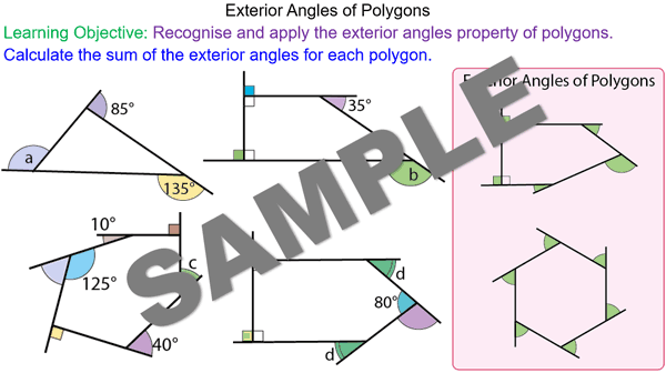 Exterior Angles Of Polygons Mr