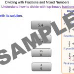 Dividing Mixed Numbers and Top-Heavy Fractions