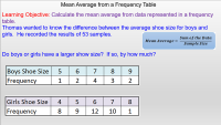 Finding the mean average from a frequency table