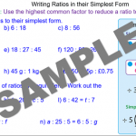 Writing Ratios in their Simplest Form
