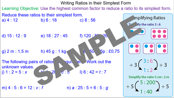 how to write a ratio in its simplest form
