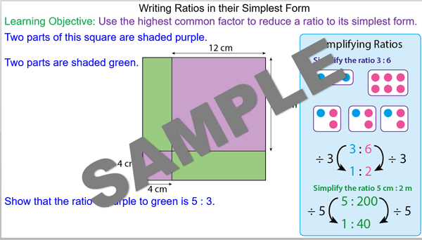 Writing Ratios in their Simplest Form - Mr-Mathematics.com
