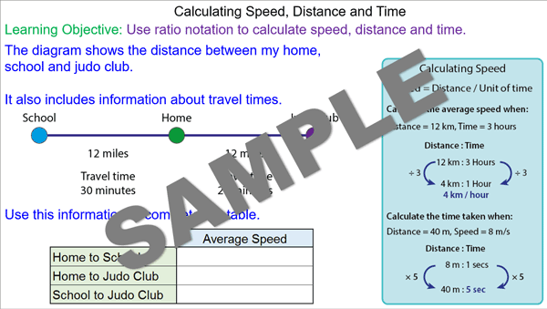 how to find time with speed and distance