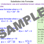 Substituting Numbers into Formulae