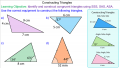 Constructing Triangles using Compasses and Protractors