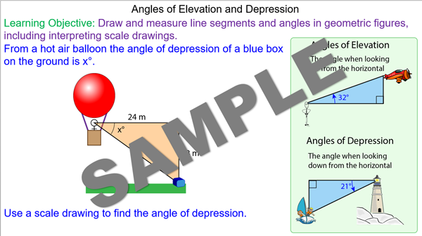 Angle Of Elevation Lesson Plan : Angles of elevation and depression mr mathematics