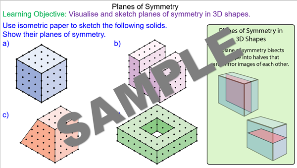 Planes of Symmetry in 3D Shapes - Mr-Mathematics.com