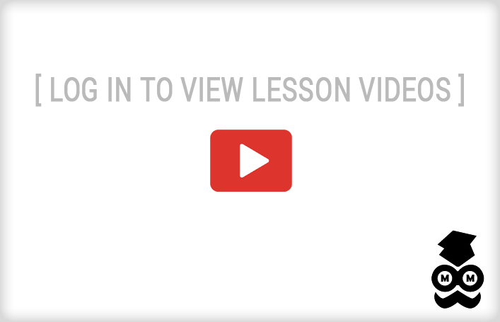 Please log in to view lesson videos