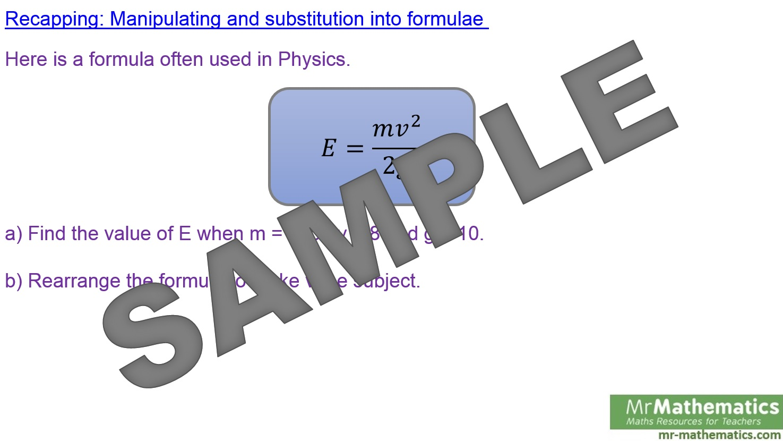 Kinematics Formulae - Mr-Mathematics.com
