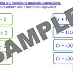 Solving Quadratics by Factorising