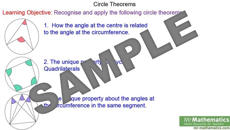Circle Theorems Mr Mathematics