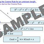 Cosine Rule – Finding Lengths