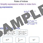 Rules of Indices