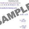 Simplifying Surds