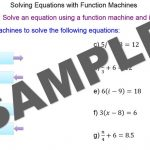 Equations with Function Machines
