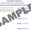 Generating a Sequence