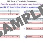 Nth Term Quadratic