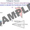 Introducing Pythagoras' Theorem