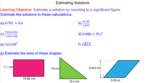 Estimating Solutions by Rounding