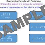 Rearranging Formulae by Factorising