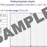 Plotting Quadratic Functions