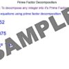 Prime Factor Decomposition