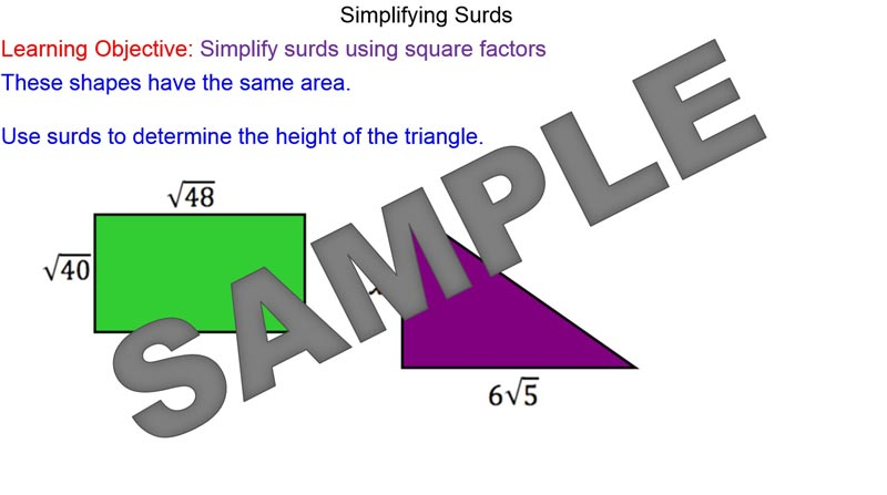GSCE Maths: Manipulating surds lesson plan by ...