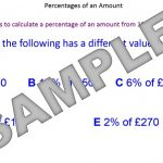 Percentages of an Amount Non-Calculator Methods